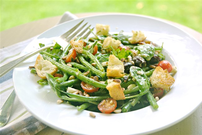 French Green Bean Salad requires minimal cooking and results in a colorful fresh dish.