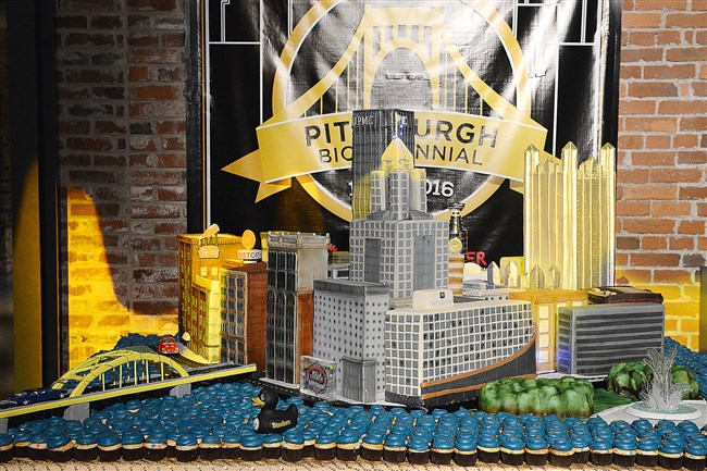 The birthday cake made for Pittsburgh's Bicentennial Birthday Bash at the Heinz History Center.