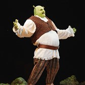 "Lukas Poost portrays the title role in an earlier national tour of ""Shrek the Musical."" A classmate,  Rory Donovan, takes on the part when Pittsburgh CLO presents the musical at the Benedum."