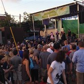 Meeting of Important People on the main stage packed Foreland Street at this year's Deutschtown Music festival.