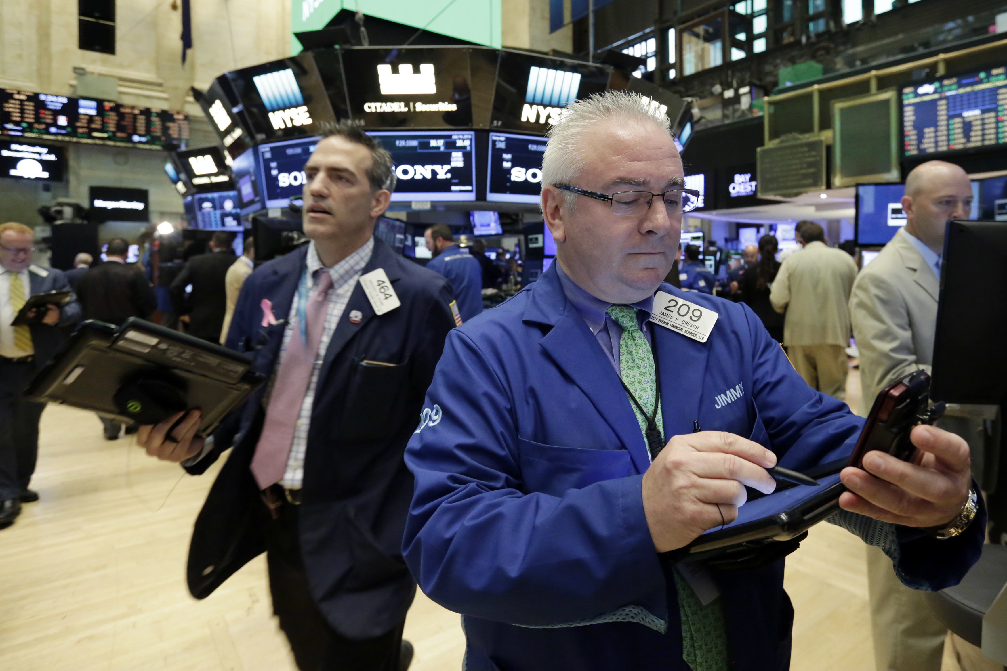 Stocks rise in afternoon trading on solid earnings reports for 14 wall street 23rd floor