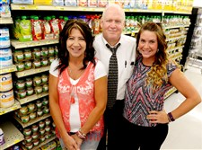 At the Shop 'N Save, from left, store manager Karen Foley, general manager David Chulak and floor supervisor Megan Foley. The Carrick store has been serving WIC customers since 1986.