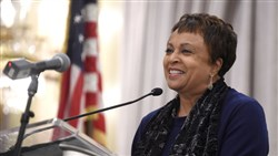 Carla Hayden, shown in 2015, was confirmed by the Senate on Wednesday to head the Library of Congress. Ms. Hayden, a former Pitt professor, is the longtime leader of Baltimore's library system.