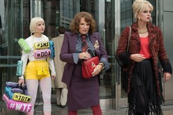 "From left, Jane Horrocks as ""Bubble,"" Jennifer Saunders as ""Edina,"" and Joanna Lumley as ""Patsy"" in ""Absolutely Fabulous: The Movie."""