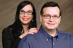 Fayette County Commissioner Vince Vicites and his wife Deanna on a photo taken from his website.
