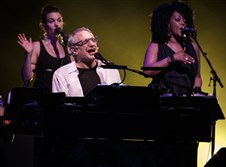 Steely Dan's Donald Fagen with Carolyn Leonhard and Cindy Mizelle.