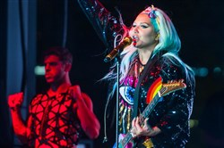 Kesha at Pride in the Street in June.