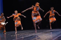 Dance Africa celebrates its fifth anniversary at the Kelly-Strayhorn Theater with explosive dance and drumming July 22-23, 2016.