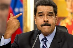 Venezuelan President Nicolas Maduro claims during a press conference in May that the United States is plotting to overthrow him.