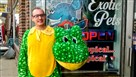William Kofalt in front of the Off the Hook exotic pets store in Coraopolis.