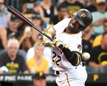 The Pirates' Andrew McCutchen is hit by Phillies starter Zach Eflin in the first inning Friday at PNC Park.