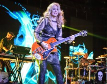 Heart's Nancy Wilson performs at the First Niagara Pavilion on Thursday night.