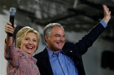 Kaine leads as Democrat Clinton nears a running mate choice