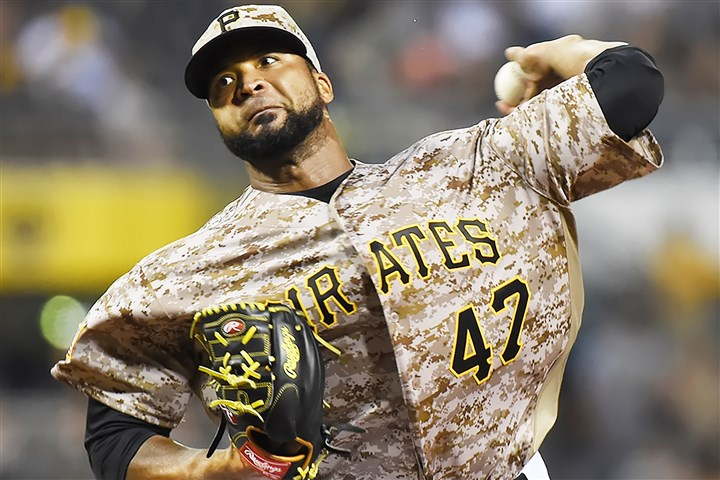 20160721pdPiratesSports04 The Pirates' Francisco Liriano delivers a pitch July 21 against the Brewers.