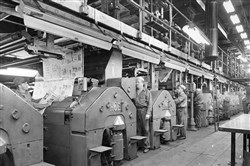 This image, likely from 1959, shows the pressroom of what was then The Pittsburgh Press.