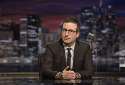 "The host of HBO's ""Last Week Tonight With John Oliver"" pulled no punches in Sunday's show about the conventions."