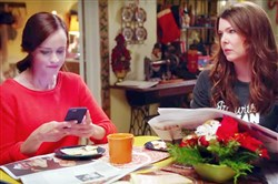 """Gilmore Girls"" Rory and Lorelai, Alexis Bledel and Lauren Graham, as seen in a film clip from the upcoming Netflix series."