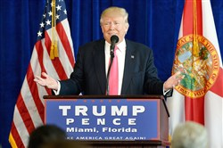 Republican presidential nominee Donald Trump called on Russia to find Hillary Clinton's deleted e-mails in a news conference Wednesday at Trump National Doral in Florida.