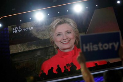Hillary Clinton becomes first woman from a major party nominated for president