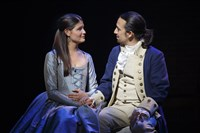"Phillipa Soo and Lin-Manuel Miranda in ""Hamilton's America"" debuting on PBS's ""Great Performances"" this fall."