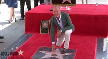 Michael Keaton was honored Thursday with a star on the Hollywood Walk of Fame. The event was streamed live by walkoffame.com.