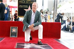 Oscar-nominee and Robinson native Michael Keaton is honored with a star on the Hollywood Walk of Fame Thursday in Los Angeles.