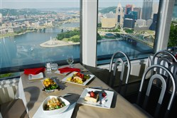 The view from Vue 412 dining room on Mount Washington.