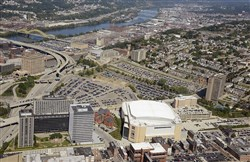 Mayor Bill Peduto said the federal money granted to the Pittsburgh-Allegheny County Sports & Exhibition Authority will help encourage hundreds of millions of dollars in additional public and private investment in the Hill District area.