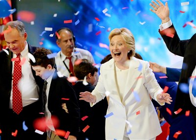 Clinton accepts nomination, says 'Sky's the limit' for country