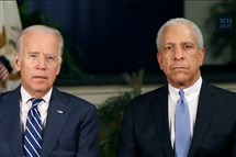 Screenshot from video of weekly radio address delivered Saturday with Vice President Joe Biden and retired federal Judge Timothy K. Lewis, who served on the Western District of Pennsylvania bench from 1991 to 1992 and on the Court of Appeals for the Third Circuit from 1992 to 1999.