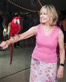 "Sally Wiggin was greeted with a friendly ""Hello"" from this beautiful Macaw named Majik at the Pittsburgh Zoo & PPG Aquarium's Summer Safari."