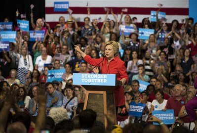 Thousands turn out for Clinton-Kaine rally in Downtown Pittsburgh