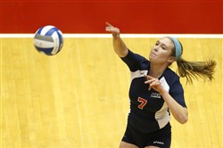 Arden Fisher, a Riverview graduate and standout at Robert Morris, is playing professional volleyball in Switzerland.