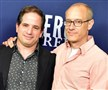 """Sensory"" executive producers David Zabel and David W. Zucker appear at a PBS press conference for ""Mercy Street"" last week."
