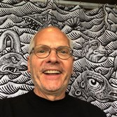 Don Moyer of Mount Washington has used Kickstarter to raise funds to produce his shower curtain featuring sea monsters.