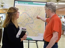 Residents attned a public meeting on the Mon-Fayette Expressway in August in West Mifflin