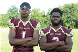 Paris Ford, left, and DeWayne Murray are two high-major college recruits who should combine to give Steel Valley a potent, two-dimensional offense.