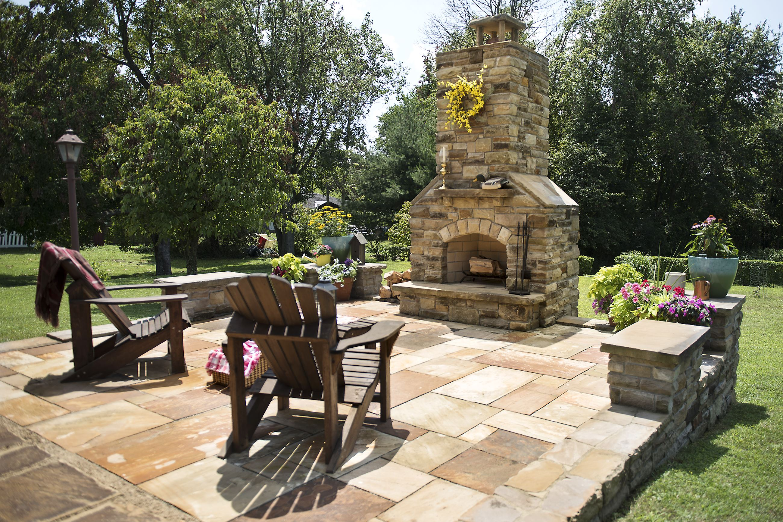 DIY stonecutter: Donora man builds his own patio, outdoor ...