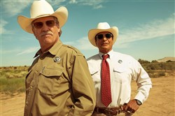 "Jeff Bridges, left, gives a terrific performance as Gil Birmingham backs him up in ""Hell or High Water."""
