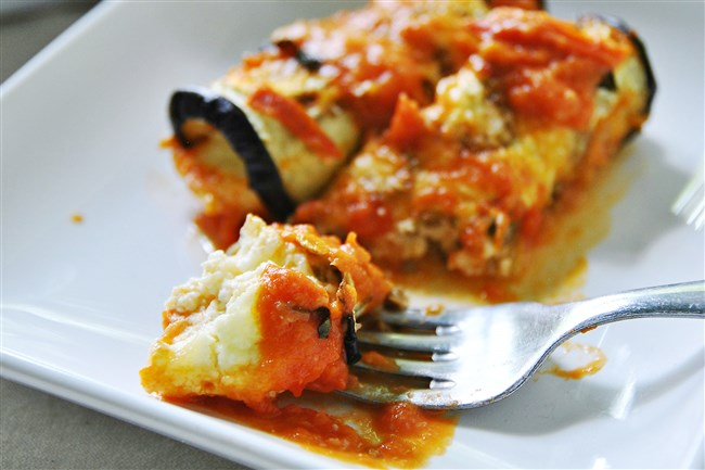 Easy Cheesy Eggplant Roll-ups are sure to please.