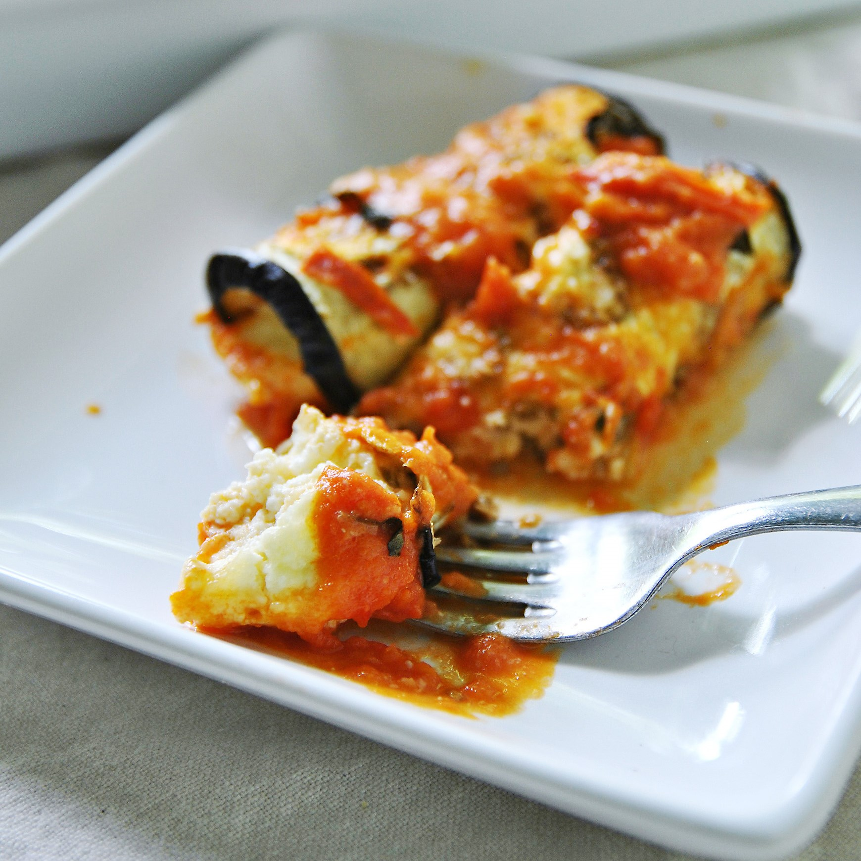 Let's Eat: Cheesy Eggplant Roll-ups