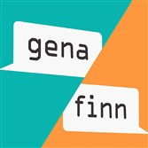 "Book cover of  ""Gena/Finn"" (Chronicle Books, $17.99, ages 14 and up) by Hannah Moskowitz and Kat Helgeson."