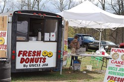 Booth selling maple candies at last year's Mason-Dixon Frontier Festival.