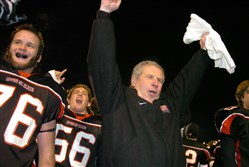 Upper St. Clair football coach Jim Render has had plenty to celebrate in 38 seasons at the school, winning 390 games.