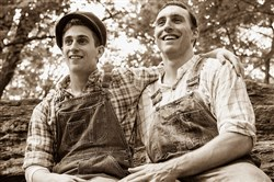 "From left, Nathan Salstone (Homer Collins) and Danny McHugh (Floyd Collins) play brothers in the musical ""Floyd Collins,"" presented by Front Porch Theatricals Aug. 26-Sept. 4 at the New Hazlett Theater."