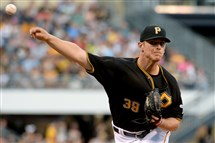 The Pirates' Chad Kuhl pitches against the Marlins last Saturday at PNC Park.