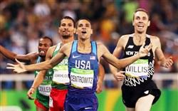 Solid gold: Matthew Centrowitz wins the 1,500-meter final on Saturday.