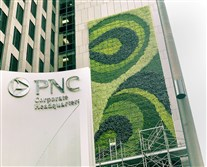 For the past seven years, a living wall filled with evergreen ferns, sedum, ajuga and other plants has sprouted from the side of One PNC Plaza Downtown. But PNC Financial Services Group is removing the 2,380-square-foot vertical garden.