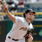 Gerrit Cole delivers a pitch Wednesday afternoon against the Astros.