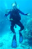 Tom Beckman of Ligonier participates in an eco-tourism reef survey during a vacation in Florida.